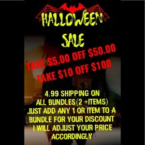 🔥Halloween SALE ‼️🔥$5/Off $50 & $10/Off $100 🔥
